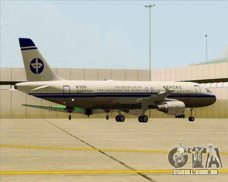 Airbus A320-200 CNAC-Zhejiang Airlines para as rodas de GTA San Andreas