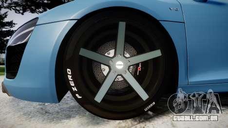 Audi R8 V10 Plus 2013 Vossen VVS CV3 para GTA 4 vista de volta