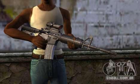 M4 Carbine ACOG para GTA San Andreas terceira tela