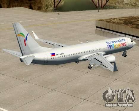 Boeing 737-800 South East Asian Airlines (SEAIR) para GTA San Andreas interior