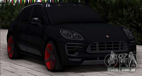 Porsche Macan Vossen para GTA San Andreas traseira esquerda vista