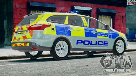 Met Police Ford Focus Estate IRV ELS 8 2013 para GTA 4 esquerda vista