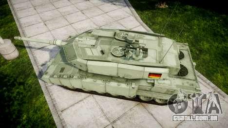 Leopard 2A7 DE Green para GTA 4 vista direita