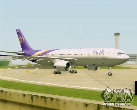 Airbus A300-600 Thai Airways International para GTA San Andreas vista superior