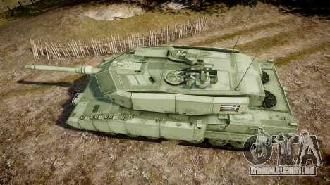 Leopard 2A7 GR Green para GTA 4 vista direita