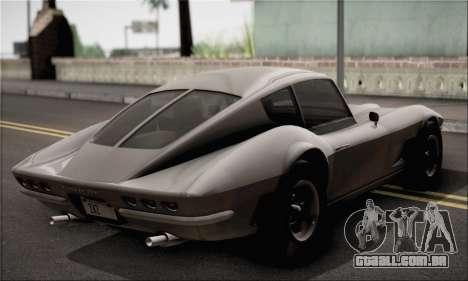 Invetero Coquette Classic v1.1 para GTA San Andreas traseira esquerda vista