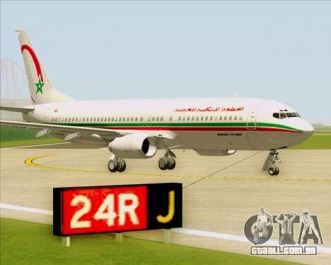 Boeing 737-8B6 Royal Air Maroc (RAM) para vista lateral GTA San Andreas