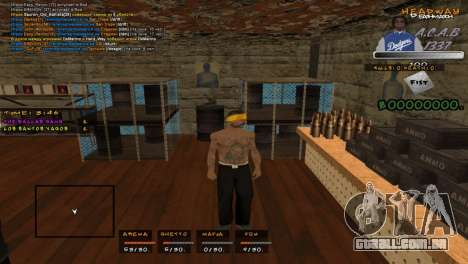 C- HUD A.C.A.B para GTA San Andreas
