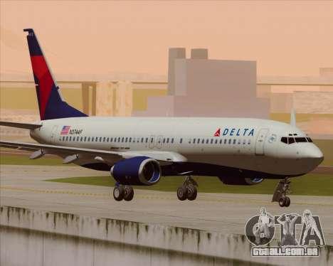 Boeing 737-800 Delta Airlines para GTA San Andreas vista traseira