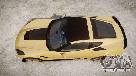 Chevrolet Corvette Z06 2015 TireMi5 para GTA 4 vista direita
