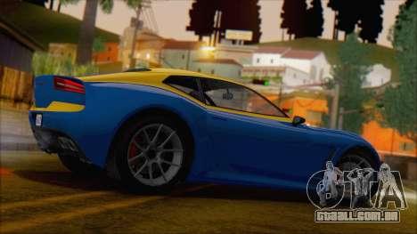 GTA 5 Lampadati Furore GT (IVF) para GTA San Andreas esquerda vista