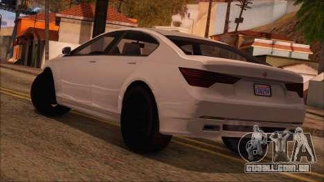 GTA 5 Ubermacht Sport para GTA San Andreas esquerda vista