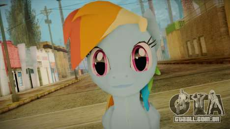 Rainbow Dash from My Little Pony para GTA San Andreas terceira tela