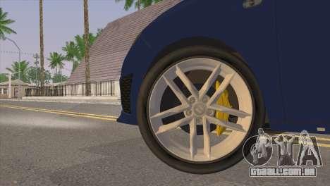 Seat Ibiza Cupra 2010 para GTA San Andreas traseira esquerda vista