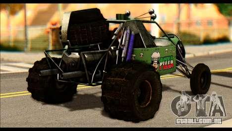 Buggy Fireball from Fireburst para GTA San Andreas esquerda vista