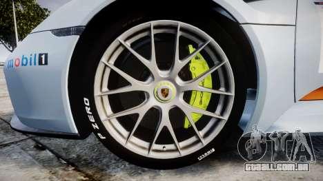 Porsche 918 Spyder 2014 Weissach para GTA 4 vista de volta