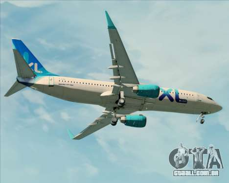 Boeing 737-800 XL Airways para GTA San Andreas vista inferior