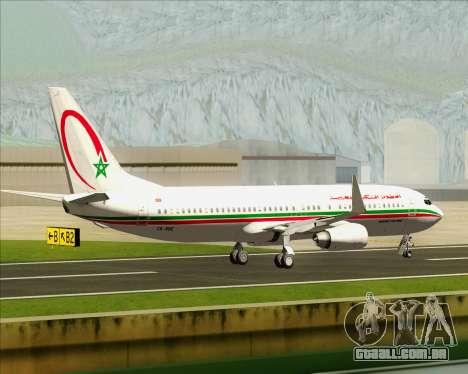 Boeing 737-8B6 Royal Air Maroc (RAM) para GTA San Andreas vista interior