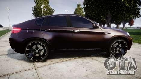 BMW X6M rims2 para GTA 4 esquerda vista