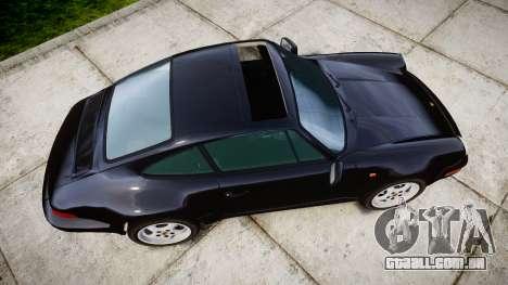 Porsche 911 (964) Coupe Razval para GTA 4 vista direita