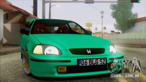 Honda Civic HB para GTA San Andreas