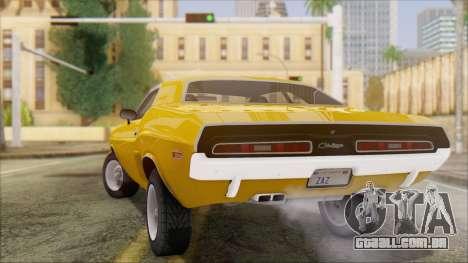 Dodge Challenger 1971 para GTA San Andreas esquerda vista