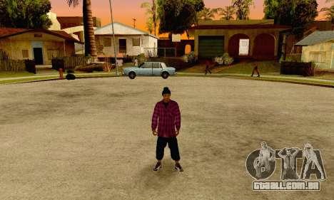 The Ballas Gang Skin Pack para GTA San Andreas quinto tela