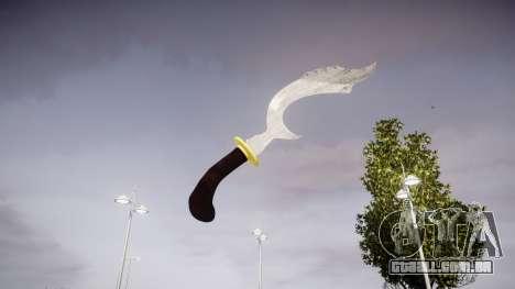 Cerimonial faca Kujang para GTA 4 segundo screenshot