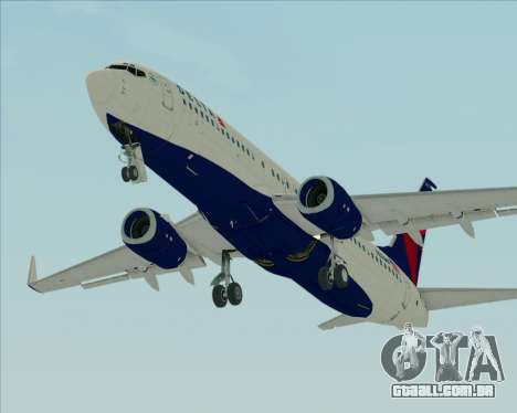 Boeing 737-800 Delta Airlines para GTA San Andreas vista interior