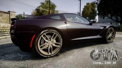 Chevrolet Corvette C7 Stingray 2014 v2.0 TireYA2 para GTA 4 esquerda vista
