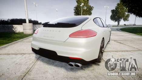 Porsche Panamera GTS 2014 para GTA 4 traseira esquerda vista
