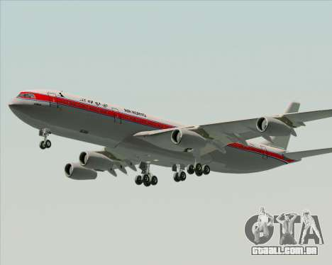 Airbus A340-300 Air Koryo para GTA San Andreas vista interior