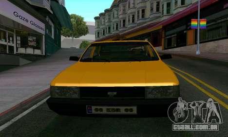 Tofas Sahin Taxi para GTA San Andreas vista interior