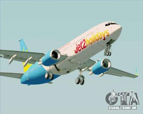 Boeing 737-800 Jet2Holidays para GTA San Andreas esquerda vista