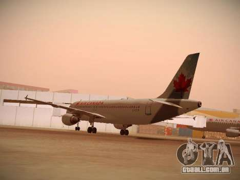 Airbus A320-214 Air Canada para GTA San Andreas vista direita