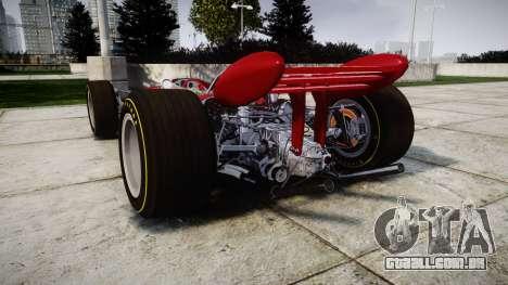 Lotus 49 1967 red para GTA 4 traseira esquerda vista