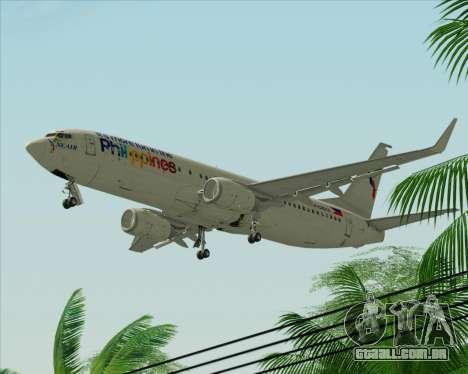 Boeing 737-800 South East Asian Airlines (SEAIR) para GTA San Andreas traseira esquerda vista