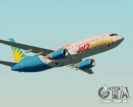 Boeing 737-800 Jet2Holidays para GTA San Andreas vista direita