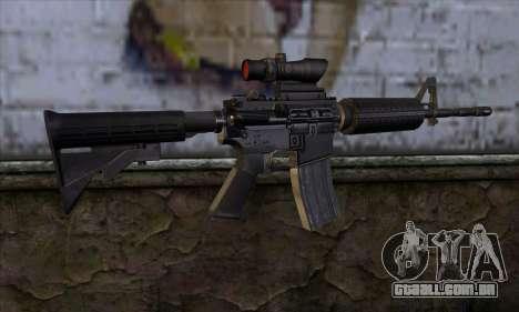 M4 Carbine ACOG para GTA San Andreas segunda tela