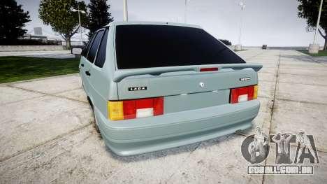 VAZ-2114 Samara-2 para GTA 4 traseira esquerda vista