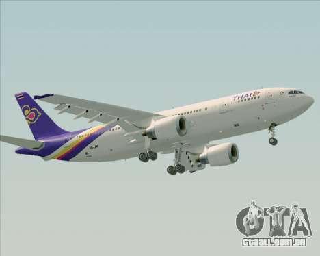 Airbus A300-600 Thai Airways International para GTA San Andreas esquerda vista