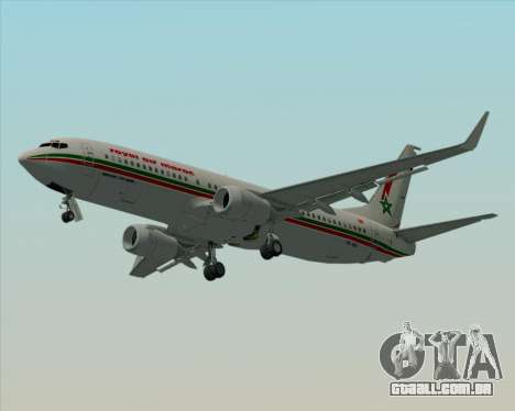 Boeing 737-8B6 Royal Air Maroc (RAM) para GTA San Andreas vista superior