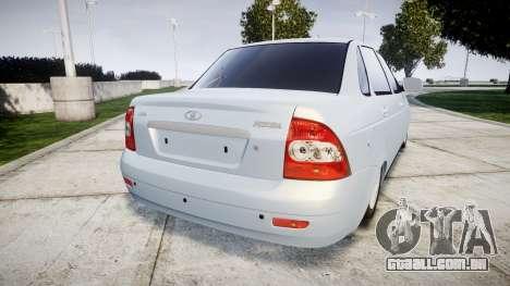 ВАЗ-Lada 2170 Priora Lâmpada para GTA 4 traseira esquerda vista