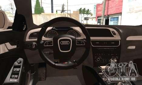 Audi S4 para GTA San Andreas traseira esquerda vista