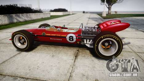 Lotus 49 1967 red para GTA 4 esquerda vista