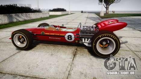 Lotus 49 1967 red para GTA 4 esquerda vista