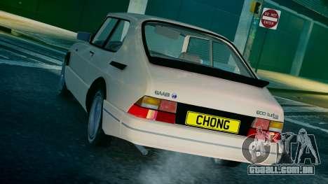 Saab 900 Coupe Turbo para GTA 4 traseira esquerda vista