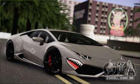 Lamborghini Huracan LP610-4 2015 Rim para GTA San Andreas vista interior