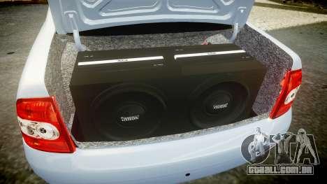 ВАЗ-Lada 2170 Priora Lâmpada para GTA 4 vista superior
