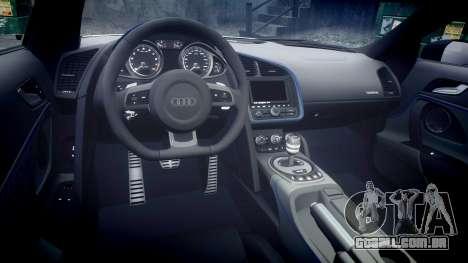 Audi R8 LMX 2015 [EPM] v1.3 para GTA 4 vista interior